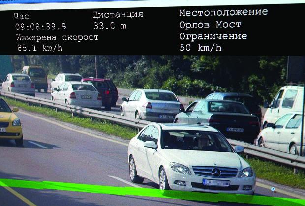 От днес камерите за скорост снимат без предупреждение