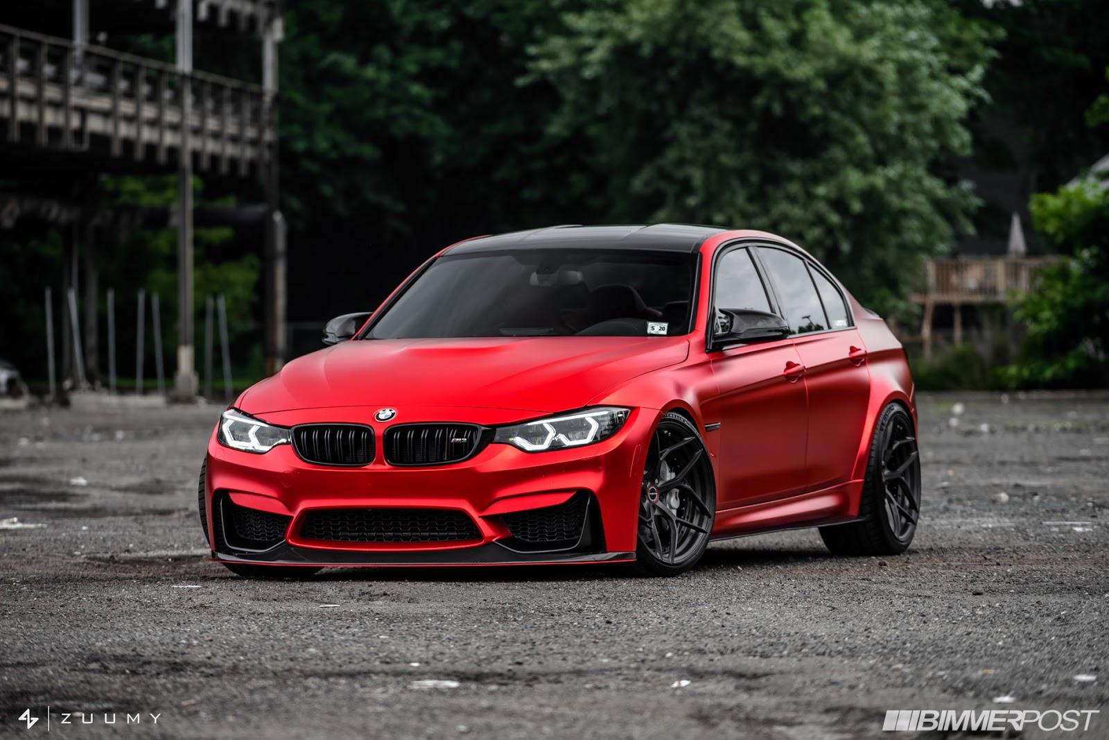 Сатенено червено BMW M3 - защо не? (ГАЛЕРИЯ)