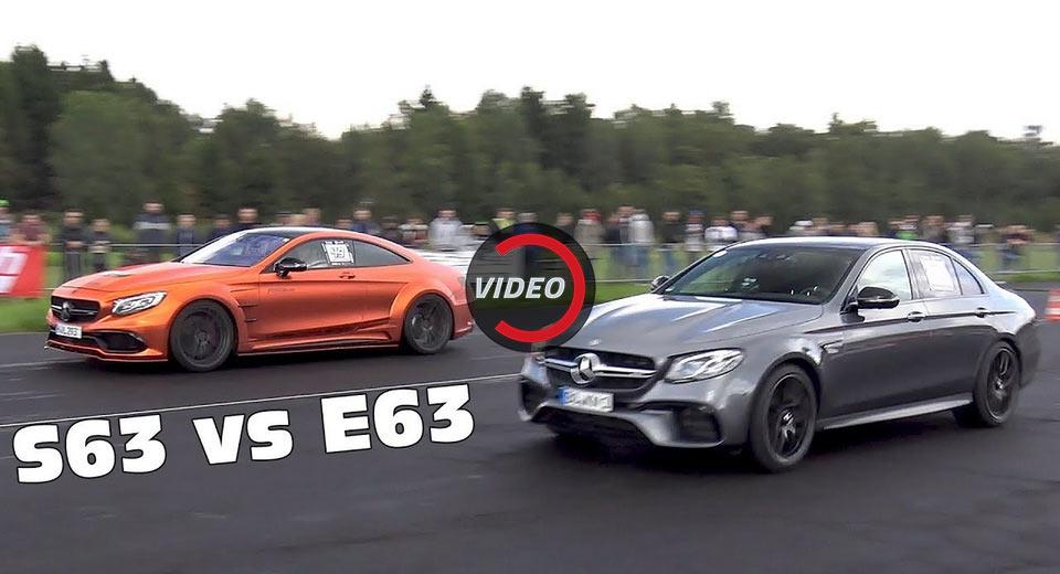 Галерия - Драг битка E63 AMG S vs. GT-R vs. S63 Coupe (ВИДЕО)